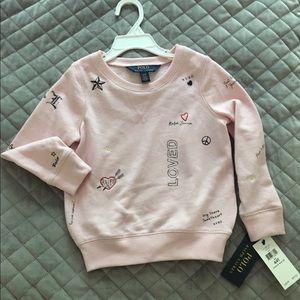 NWT Ralph Lauren POLO Sweat Shirt 4T ADORABLE